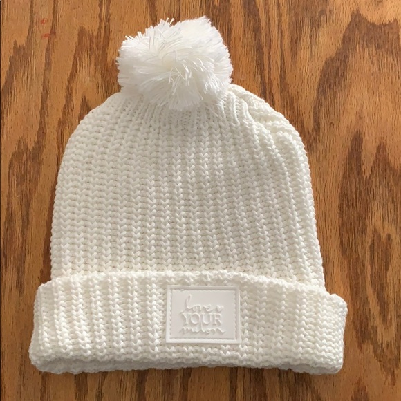 Love Your Melon white Pom beanie e67683972c3